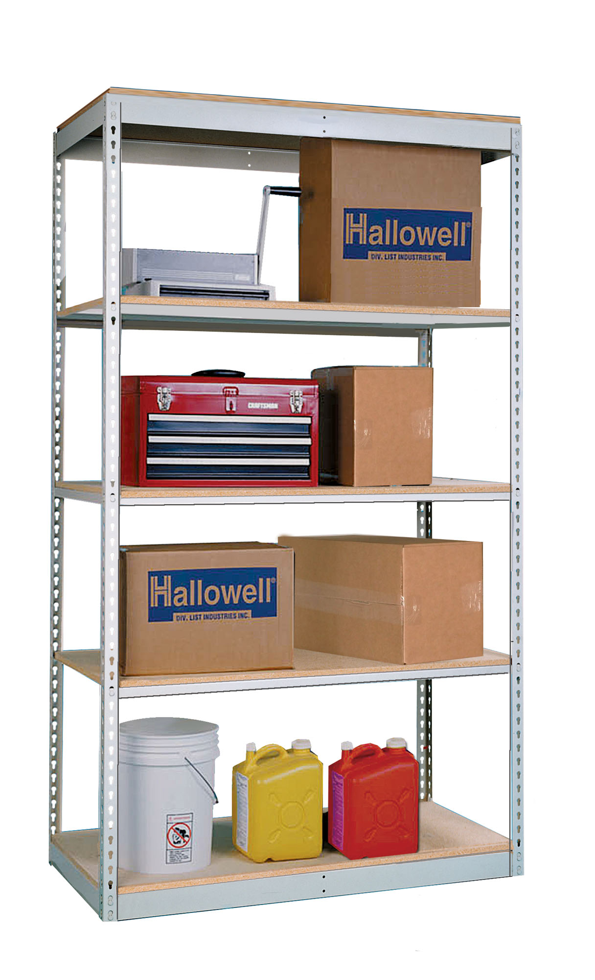 Rivetwell Boltless Shelving With Single Rivet Beams, shown in use