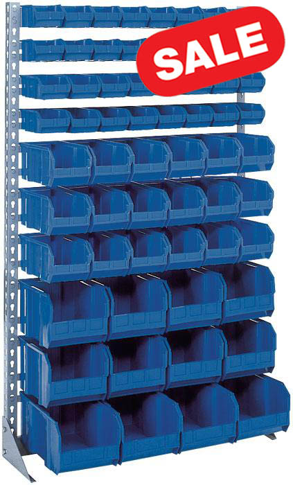 Single Sided Floor Rack with Bins