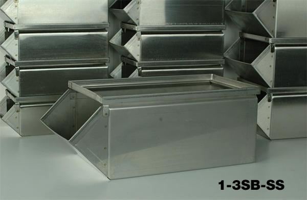 Stainless Steel Stackbins Model 1-3SB-SS