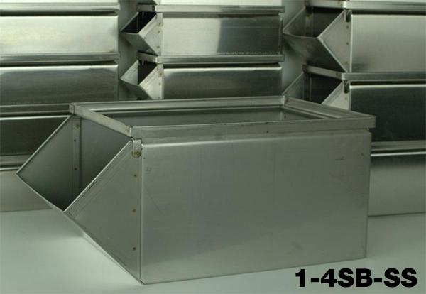 Stainless Steel Stackbins Model 1-4SB-SS