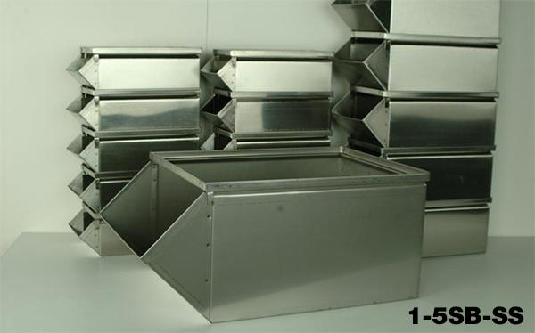Stainless Steel Stackbins Model 1-5SB-SS