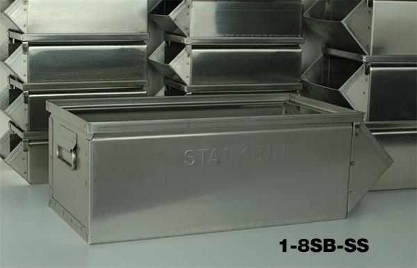 Stainless Steel Stackbins Model 1-8SB-SS