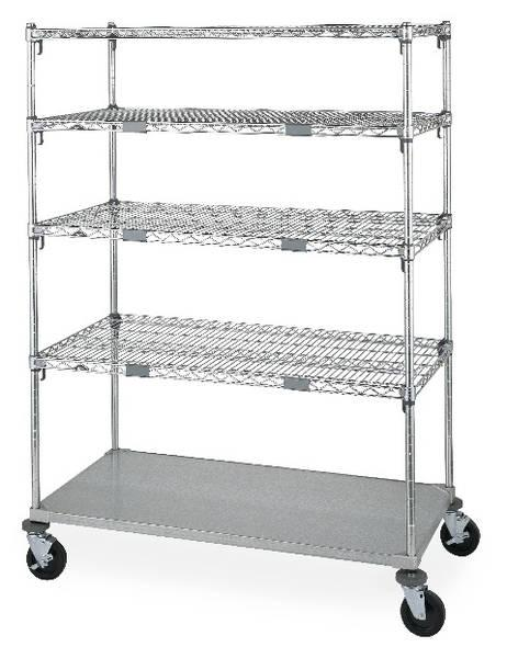 Metro Super Adjustable Standard Par Level Stock Exchange Cart Model No. ECN56CA
