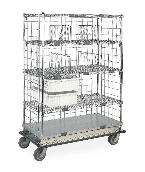 Metro Super Adjustable Standard Transport Exchange Cart (shown with additional Deluxe features)