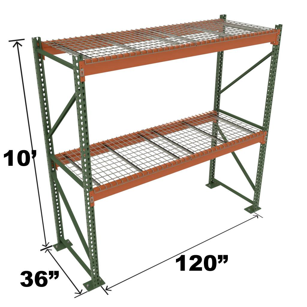 Stromberg Teardrop Storage Rack - Starter Unit with Deck - 120 in x 36 in x 10 ft