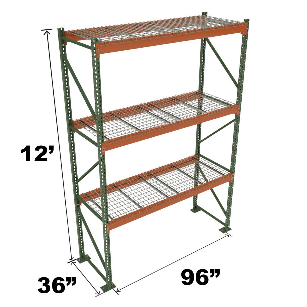 Stromberg Teardrop Storage Rack - Starter Unit with Deck - 96 in x 36 in x 12 ft
