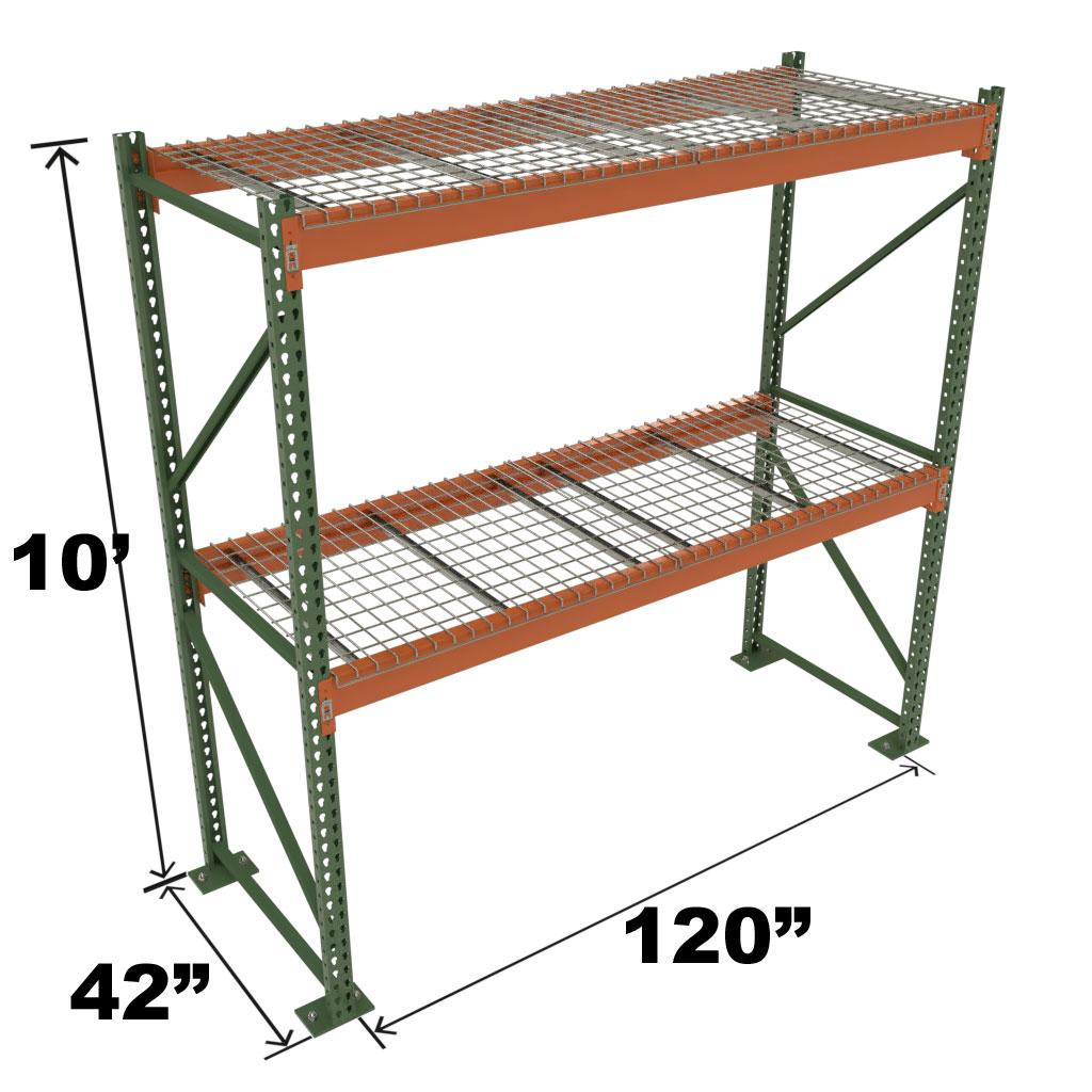 Stromberg Teardrop Storage Rack - Starter Unit with Deck - 120 in x 42 in x 10 ft