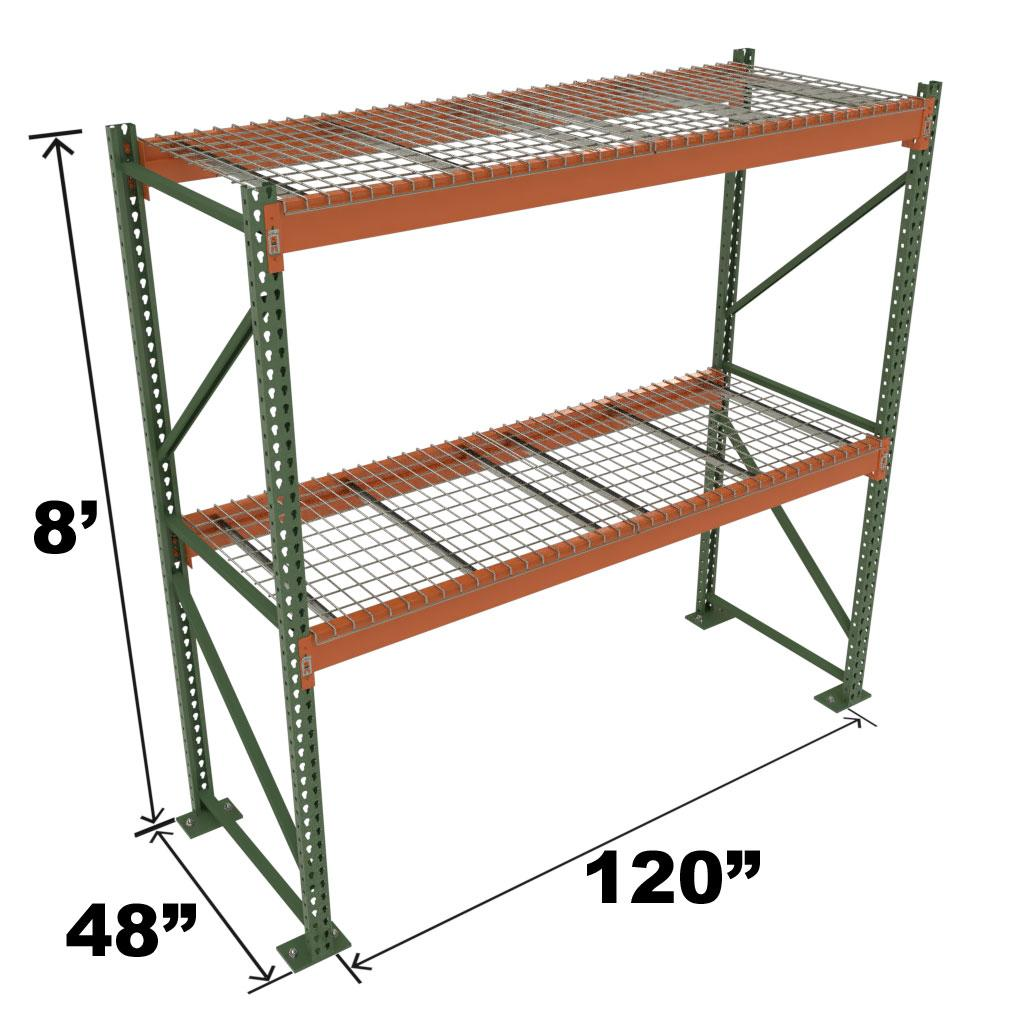 Stromberg Teardrop Storage Rack - 120 in x 48 in x 8 ft
