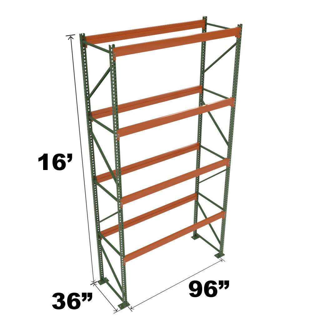 Stromberg Teardrop Storage Rack - Starter Unit without Deck - 96 in x 36 in x 16 ft