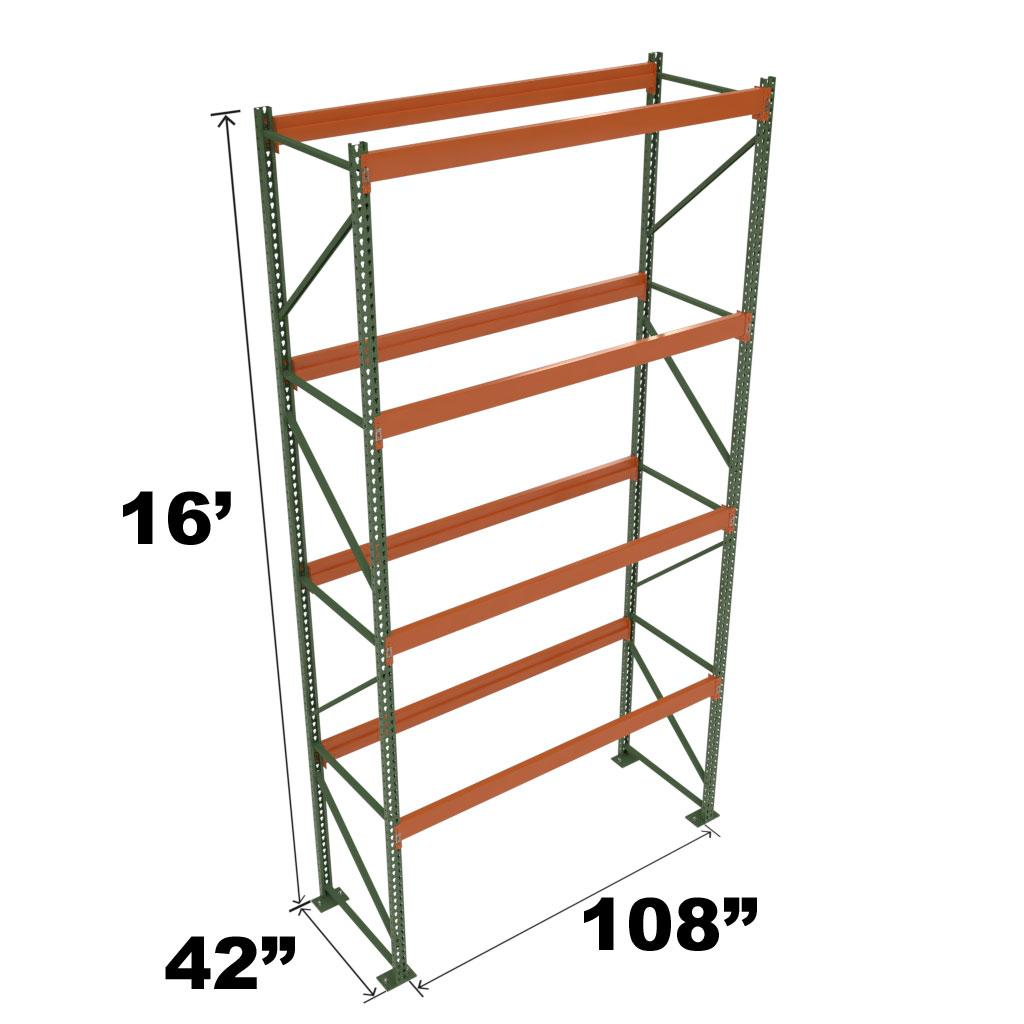 Stromberg Teardrop Storage Rack - Starter Unit without Deck - 108 in x 42 in x 16 ft