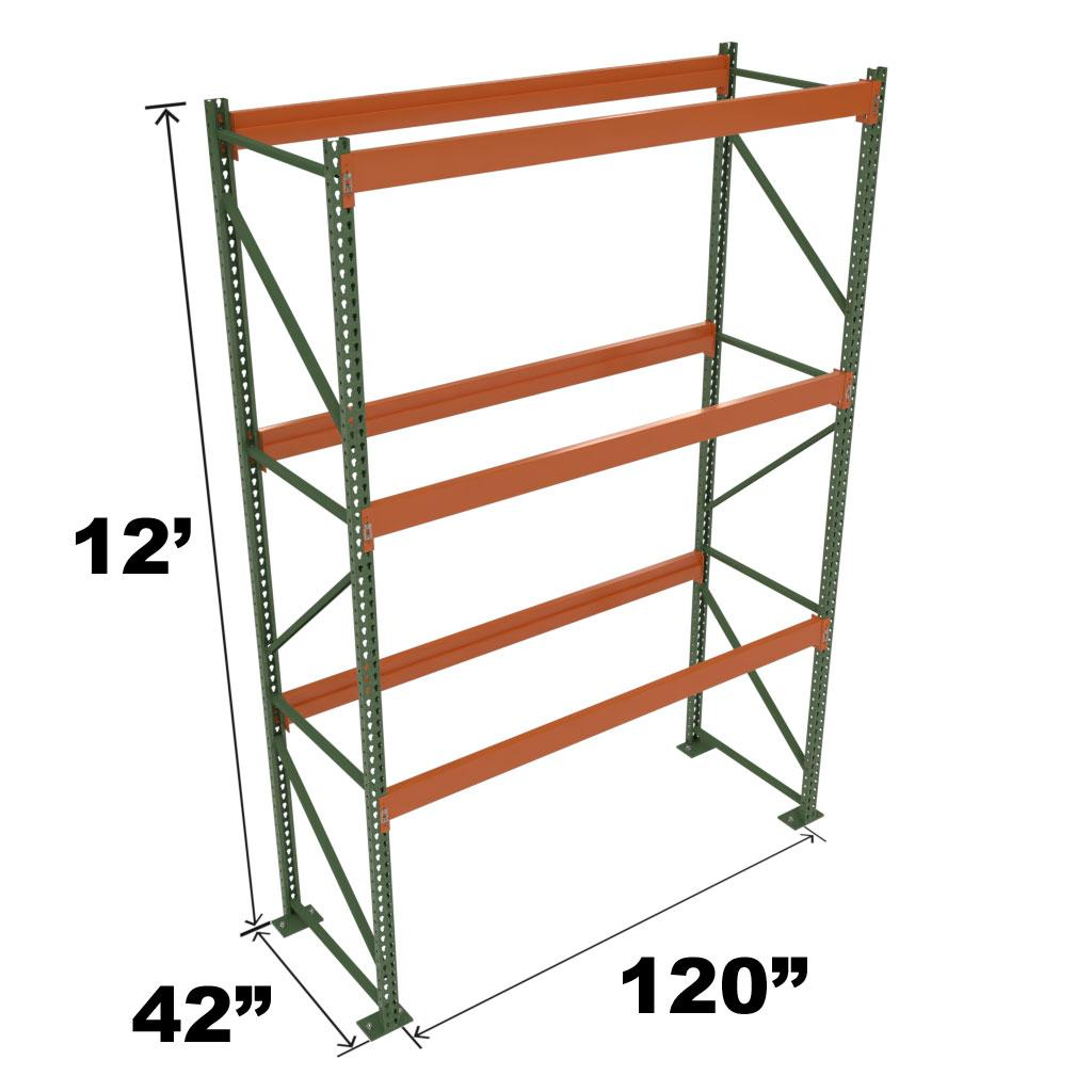 Stromberg Teardrop Storage Rack - Starter Unit without Deck - 120 in x 42 in x 12 ft