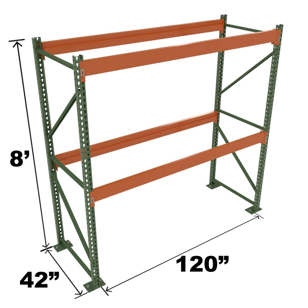 Stromberg Teardrop Storage Rack - Starter Unit without Deck - 120 in x 42 in x 8 ft