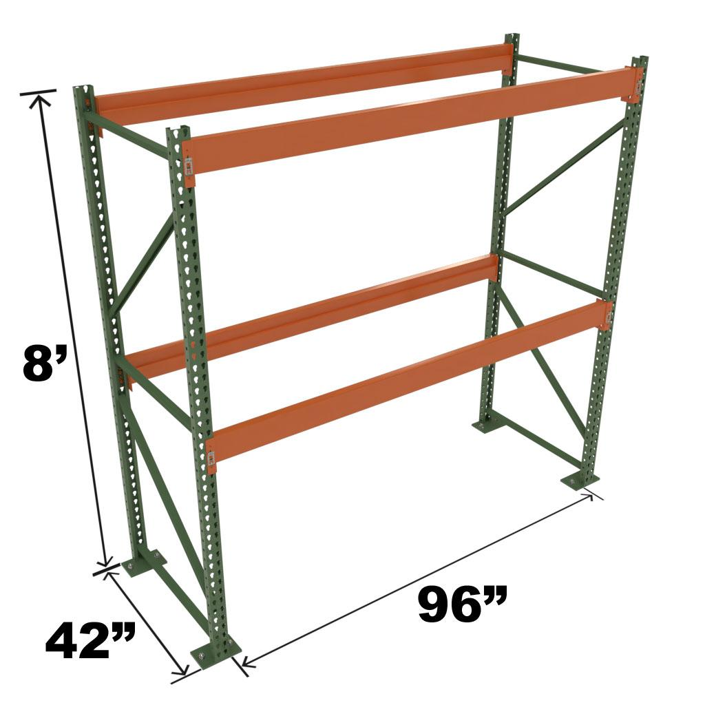 Stromberg Teardrop Storage Rack - Starter Unit without Deck - 96 in x 42 in x 8 ft