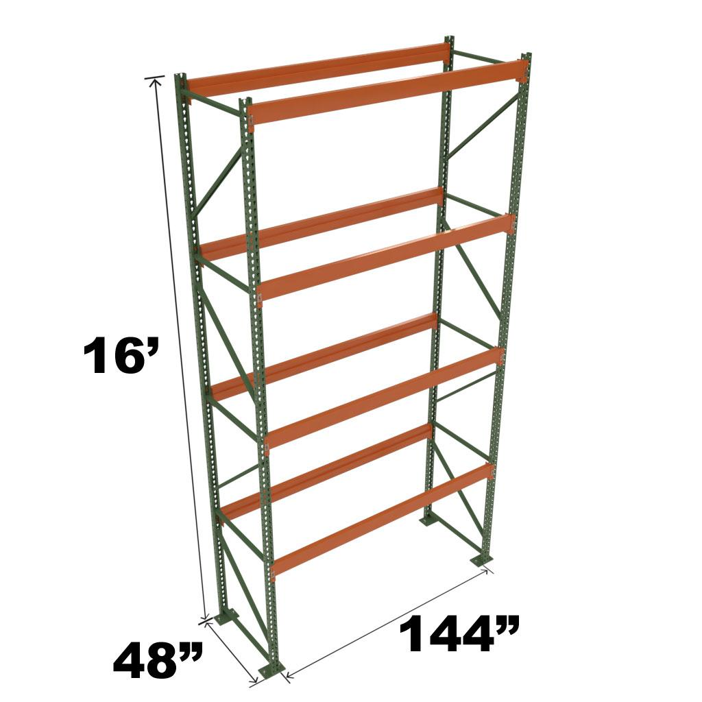Stromberg Teardrop Storage Rack - Starter Unit without Deck - 144 in x 48 in x 16 ft