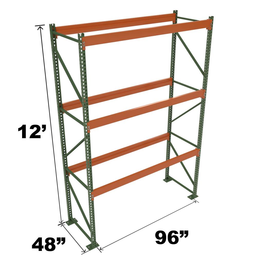 Stromberg Teardrop Storage Rack - Starter Unit without Deck - 96 in x 48 in x 12 ft