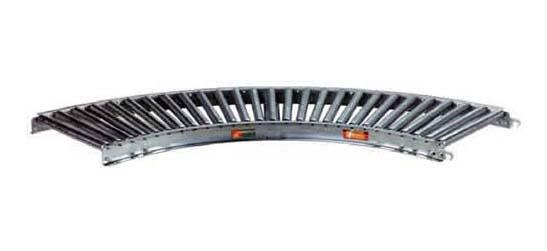 Steel Gravity Roller Conveyor 90 Degree Curved Section