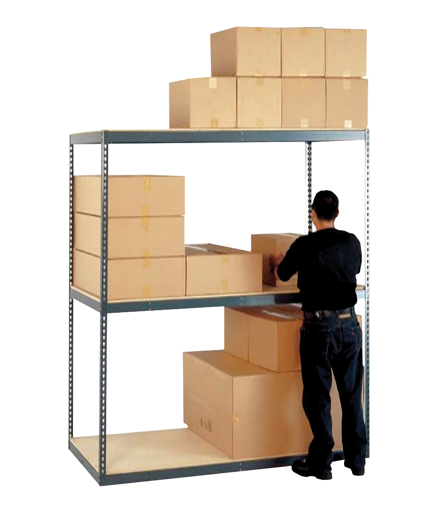 "Stromberg Bulk Shelving Racks with Particle Board Decking 60""W x 84""H 3 Shelves"