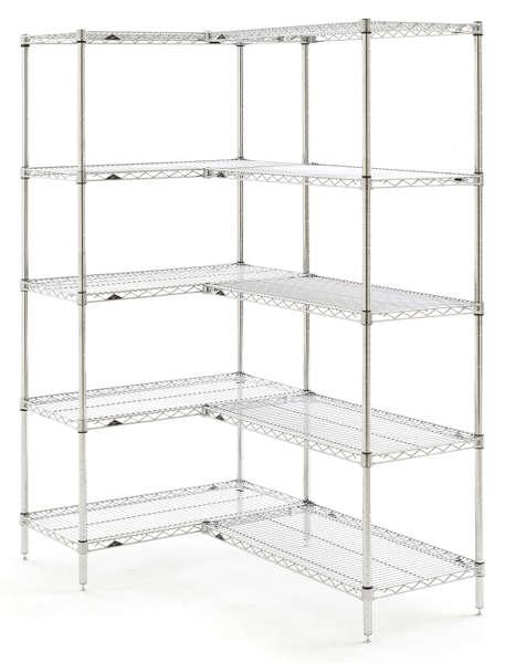 Metro Super Erecta Starter and Add-On Units - 5 Chrome Shelves