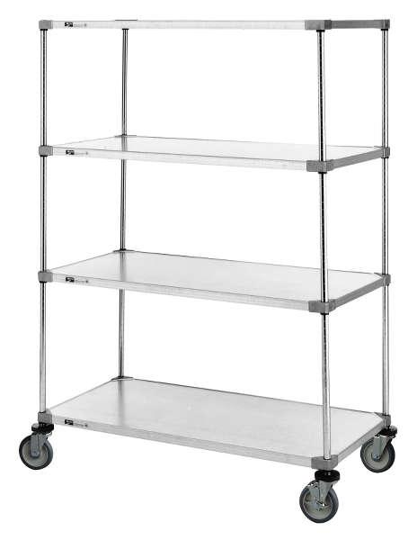 Metro Super Erecta Stem Caster Carts - Solid