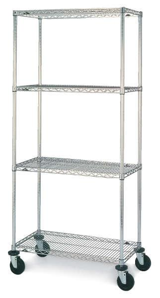 Metro Super Erecta Stem Caster Carts - Wire