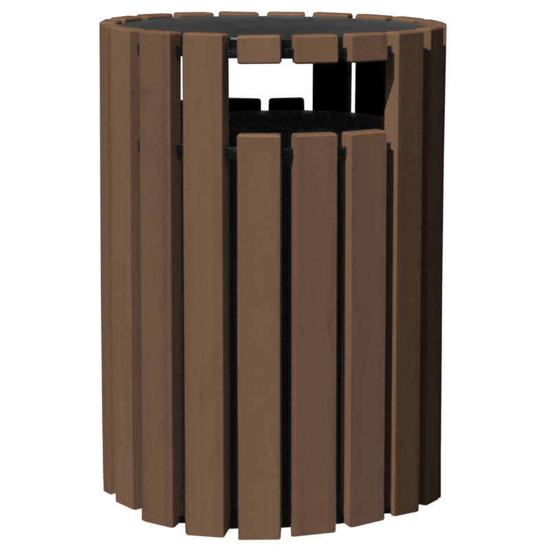 Vestil Trash Receptacles - 33 Gallon with Raincap