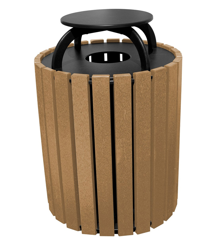 Vestil TR-PRRC-49-BK 49 Gallon Trash Receptacles with Raincap