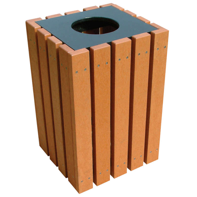 Vestil TR-PSQ-22-BK-CD Trash Receptacles 22 Gallon NEW