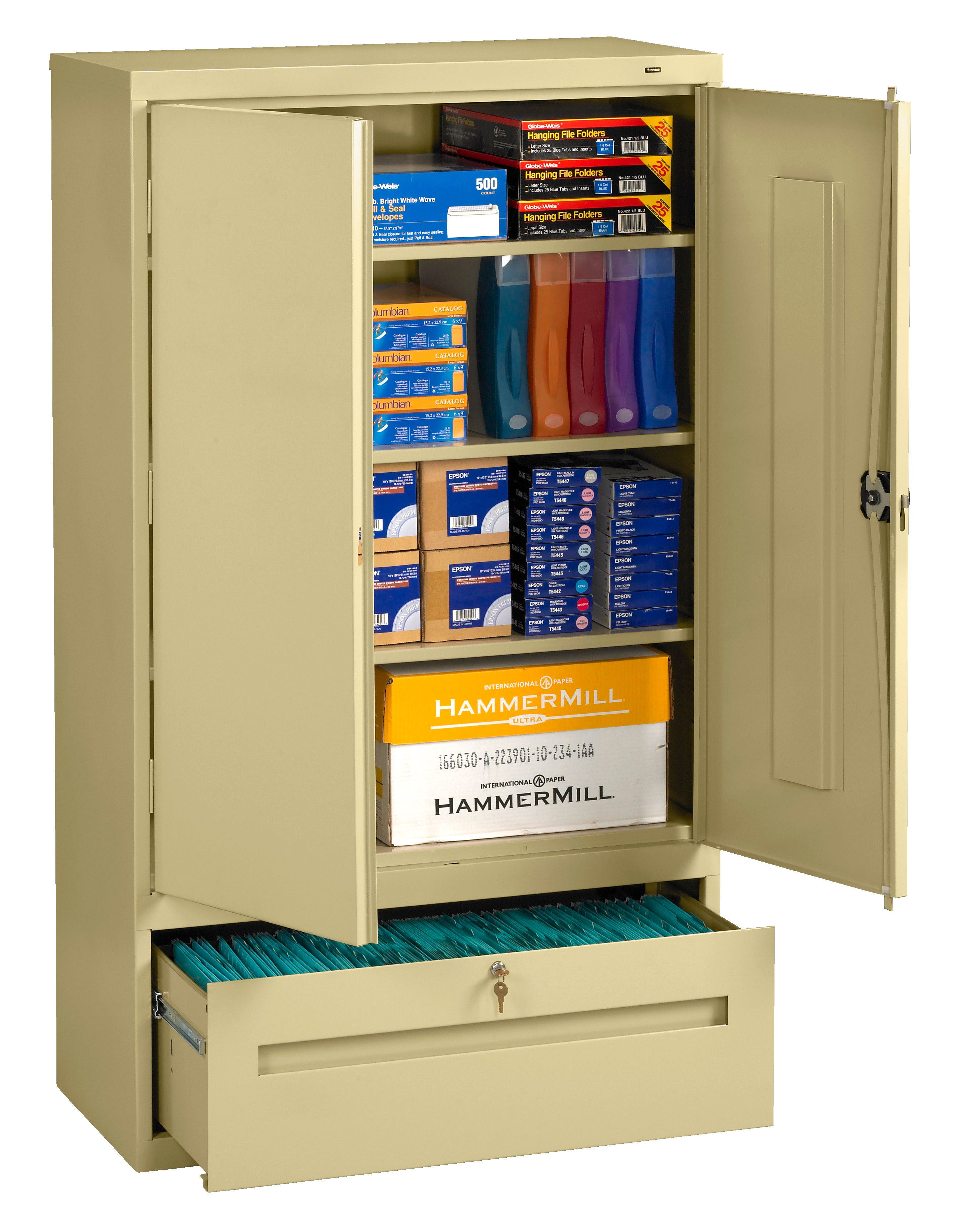 Tennsco Storage Cabinets with File Drawers DWR-6618