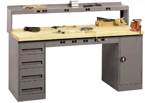 Tennsco Pedestal Workbenches
