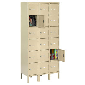 WELDED HEAVY-DUTY 6-TIER BOX LOCKERS