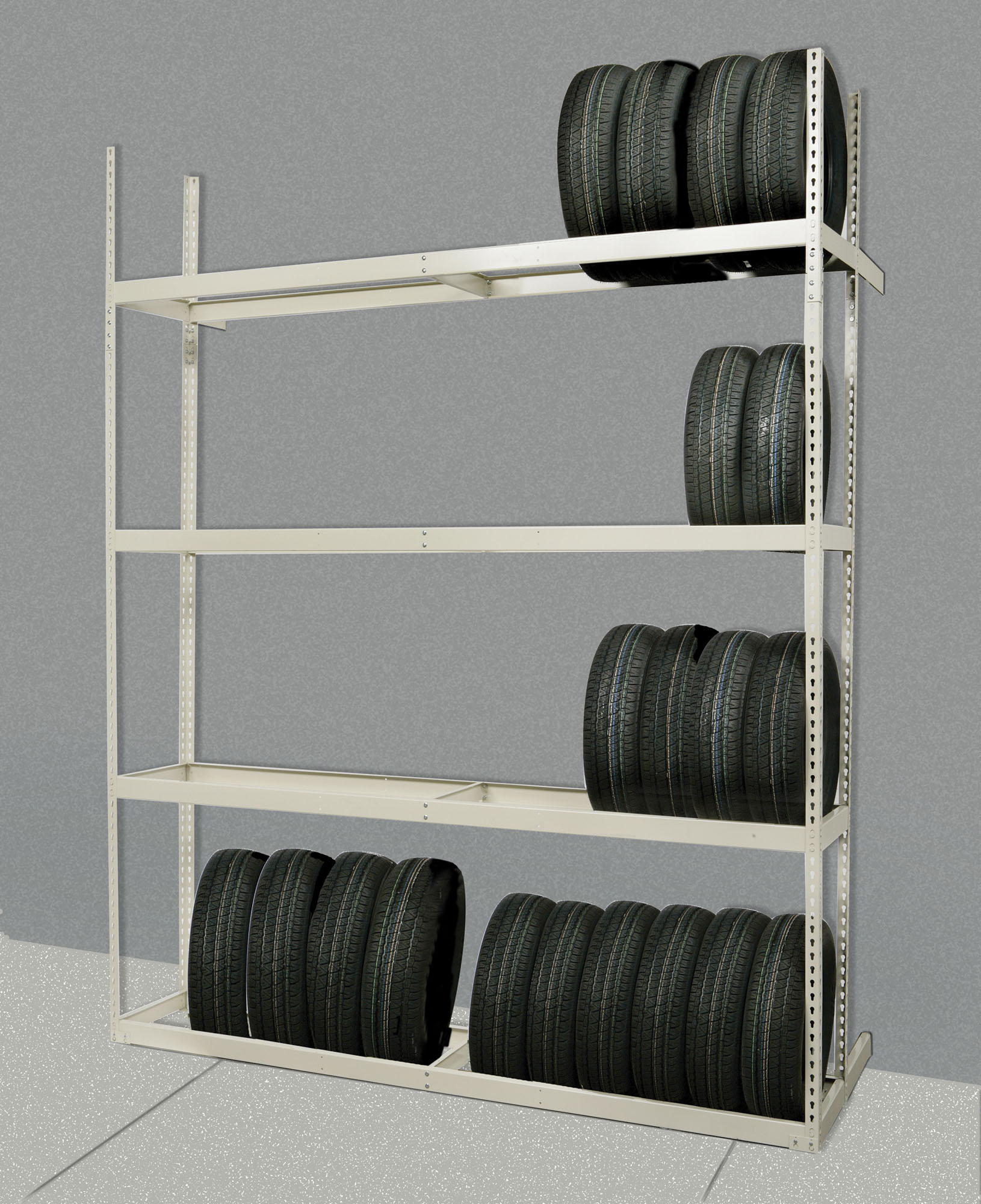 Hallowell Rivetwell Tire Storage Rack, Model TSS6021120-4S