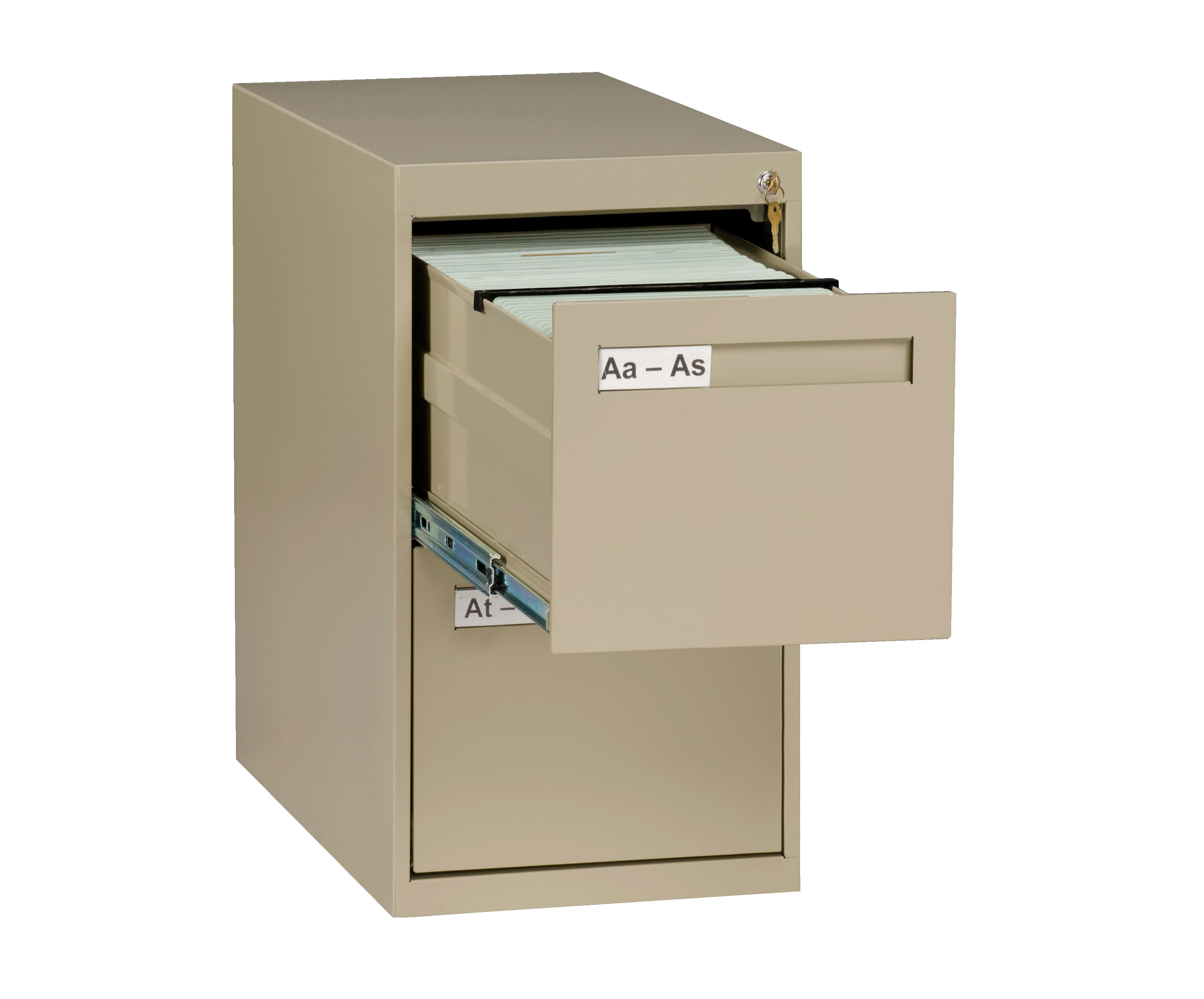 Tennsco Vertical File Letter Size 2 Drawer