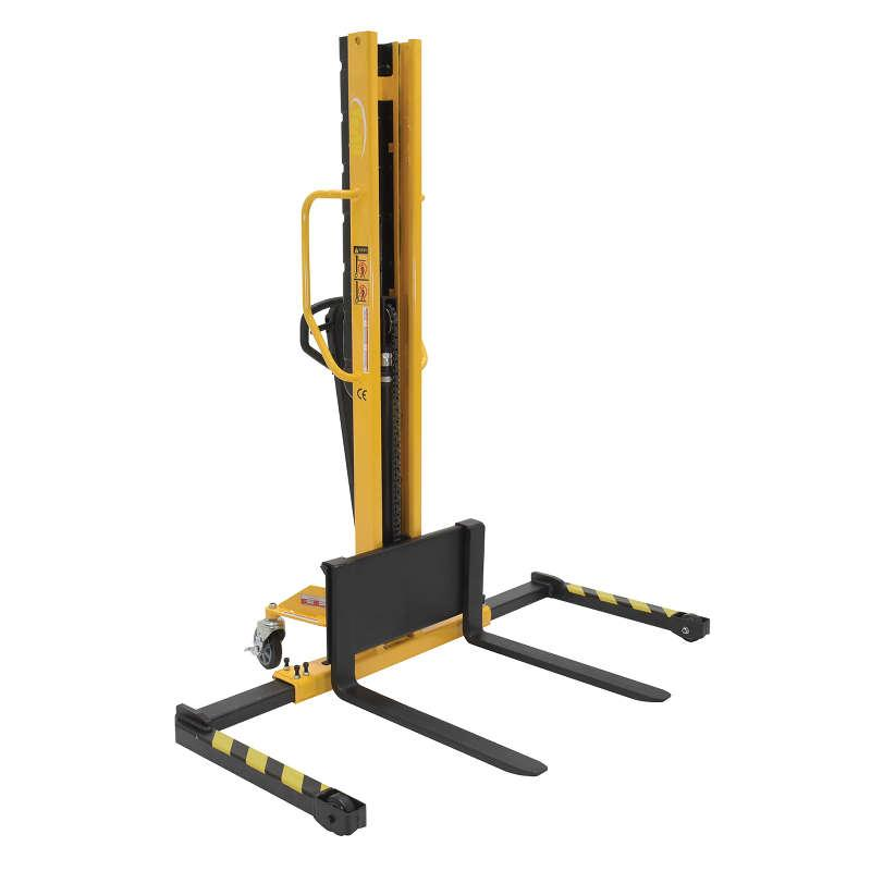 Vestil Narrow Mast Manual Hydraulic Hand Pump Stackers