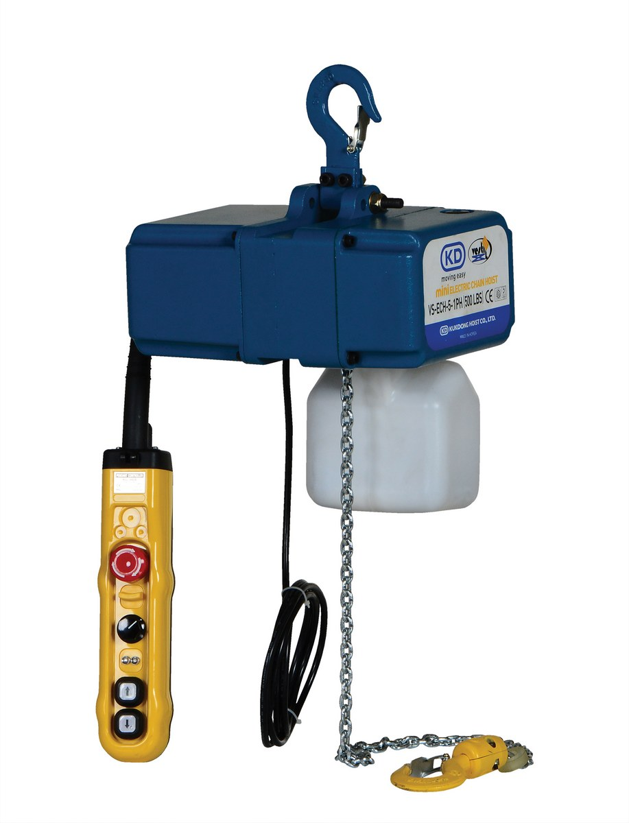 Vestil VS-ECH-5-1PH Variable Speed Electric Chain Hoists