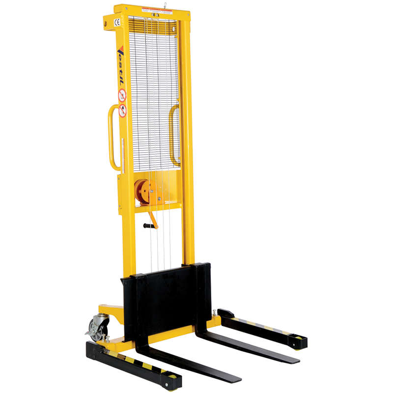 Vestil Manual Hand Winch Stacker Model No. VWS-770-AA