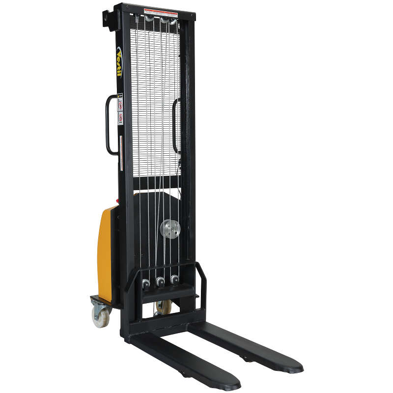 Vestil Electric Winch Stacker - Fixed Forks Over Fixed Legs - Model No. VWS-770-FF-DC