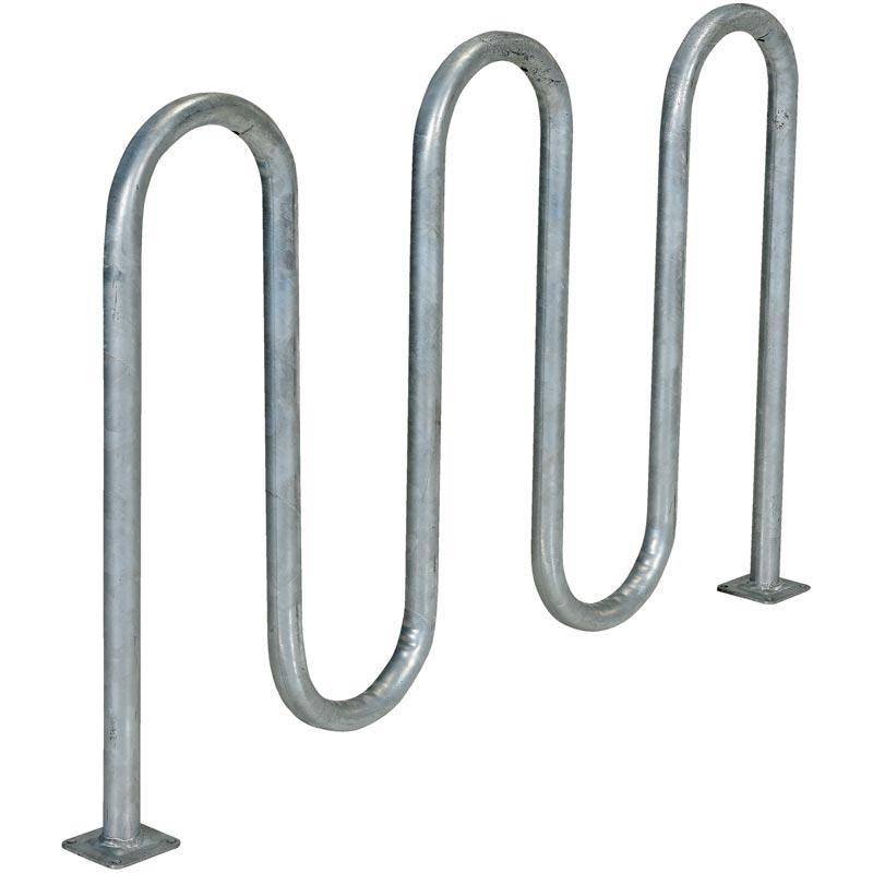Vestil Bicycle Rack Model No. BR-L3-GAL