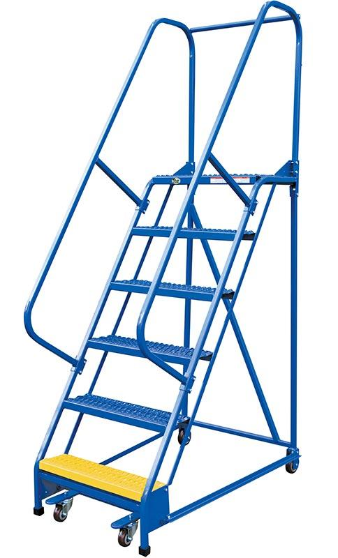 Vestil Standard Slope Ladders - Handrail Included - Model No. LAD-PW-26-6-G