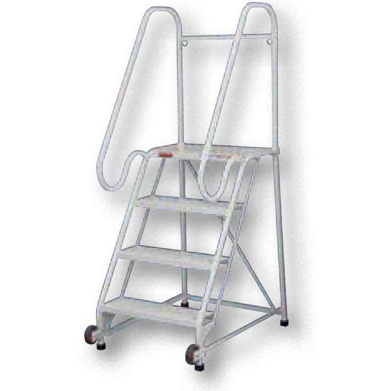 Vestil Tip-N-Roll Mobile Ladders - FDA Compliant Finish