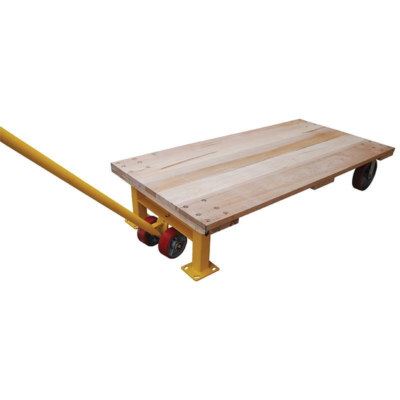 Vestil Semi-Live Hardwood Skids and Lever Jack Model No. VHPT-SL-24 with VHPT-SL-JACK