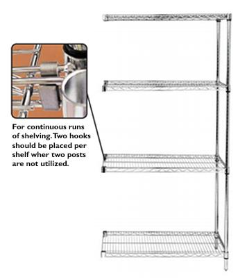 Add On-Unit chrome shelves