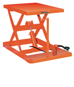 Prestolift Light Duty Manual Scissor Lifts