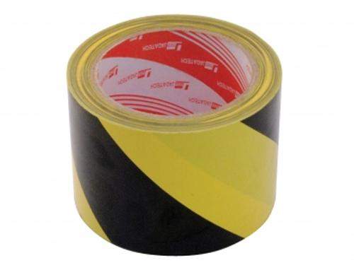 "Vestil YB-382-R Yellow/Black Striped Floor Tape - 3"" Width"