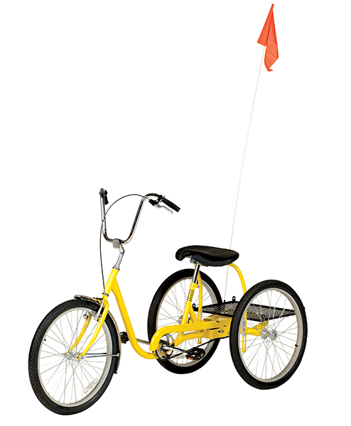 Yellow Industrial Bicycle