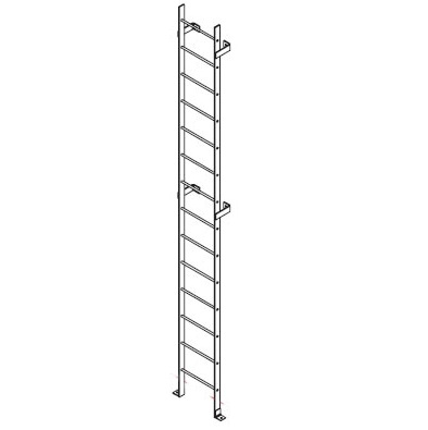 Access Ladder With Foot Pads