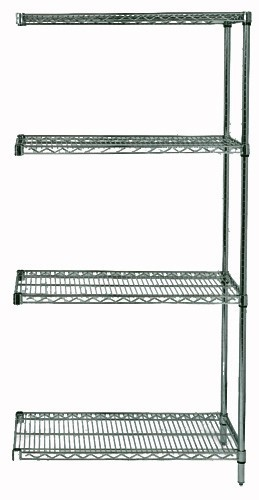 Quantum Genuine Wire Shelving Proform Add-On Kit 4 Shelves 54 Inch High