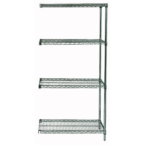 Quantum Genuine Wire Shelving Proform Green Epoxy Add-On Kit - 4 Shelves 63 Inch High