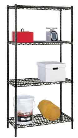 Stromberg Black Wire Stationary Shelving Units