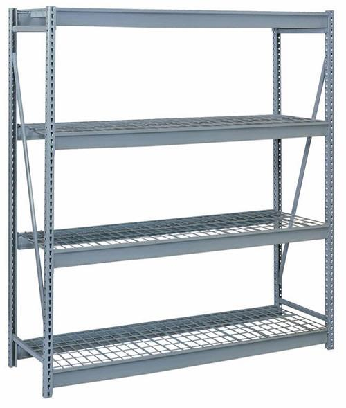 Bulk Storage Racks - 60 Inch Wide - Waterfall Heavy Duty Wire Decking