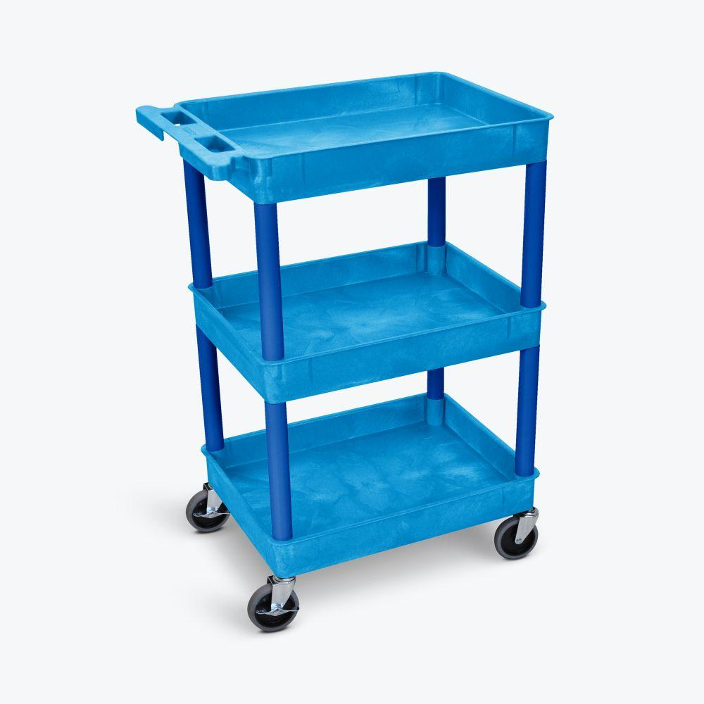 LUXOR Blue Tub Cart - Three Shelves